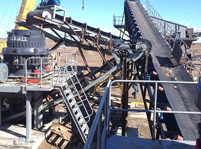 安徽150t/h石英石制砂生产现场